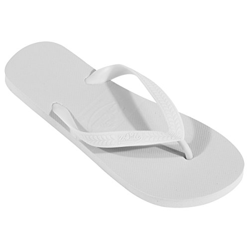 ZOHULA Flip Flops Großeinkauf - 20 Paare (Sx4 Mx10 Lx6, Weiß)