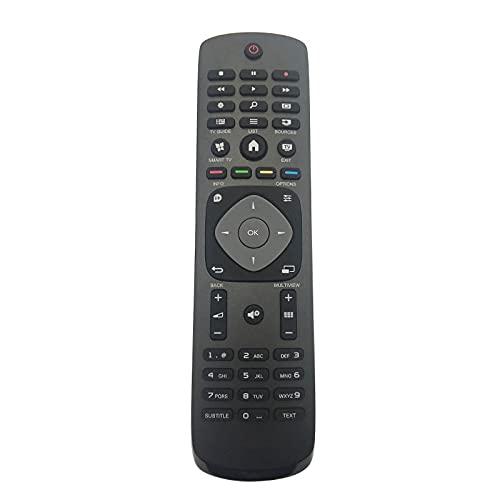 HYJ-RC, 39 8GR8BDXNEPHH Control remoto, reemplazo for Philips 4K TV 32PFK5709 / 12 32PHH4509 / 88 42PFT6109 / 12 42PFT6509 / 98 55PFK6409 / 12 55PFS6409 / 12 40PFK5300 / 12 40PFK5709 / 12 48PFK6409 /