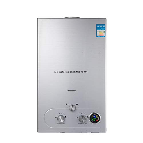VEVOR 18L Upgrade Type Tankless Propane Water Heater 4.8GPM Propane Hot Water Heater with Water...