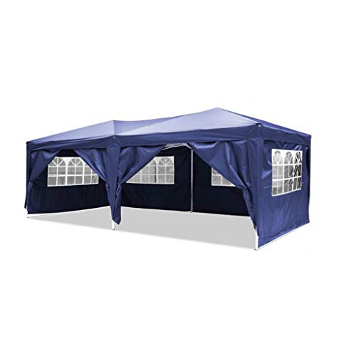 LAYX Canopy Party Outdoor Gazebo, Heavy Duty Tent Marquee for Outdoor Wedding Garden with Side Panels, Fully Waterproof,Blue (3X6m)