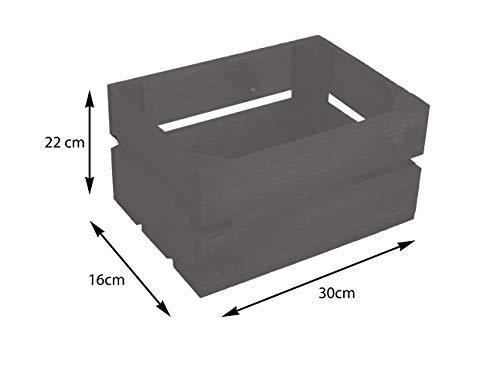 Kistenkolli Altes Land kleine geflammte Kiste Frieda Maße ca 30x22x16cm Weinkiste Aufbewahrungskiste Geschenkekiste Ablageregal (1er Set Frieda dunkel) - 5