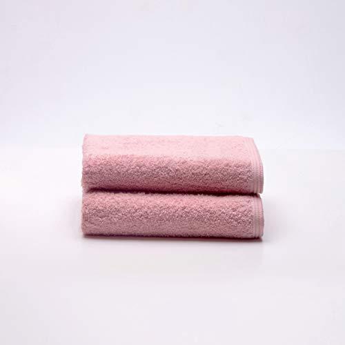 Sancarlos Ocean, Juego de 2 Toallas de Lavabo, Color Rosa, Tamaño 50x100 cm