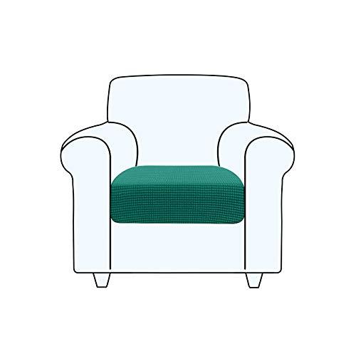 TAOCOCO Fundas de cojín para sofá,Protector de cojín de Asiento de Tela de poliéster de Alta Elasticidad (Verde Turquesa, 1 Asiento)