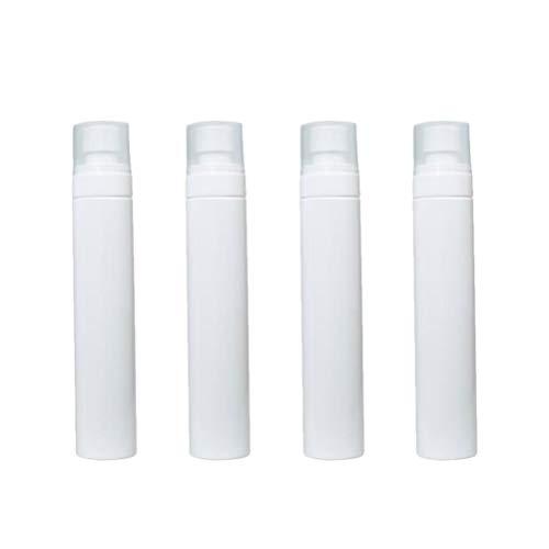DOITOOL 4Pcs Bouteilles de Pulvérisation de Brouillard en Plastique Transparent Vides Maquillage Contenants Rechargeables Bouteilles D'échantillons pour Liquides Parfums Cosmétiques (120 ML Blanc)