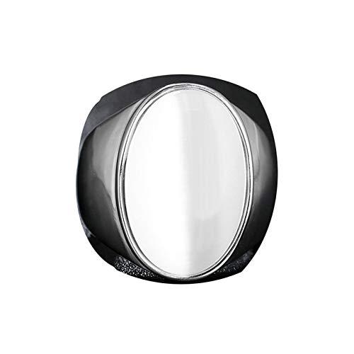 Bishilin Edelstahlring Herren Weiß Oval Opal Stein Partnerring Freundschaftsring Silber Größe 65 (20.7)