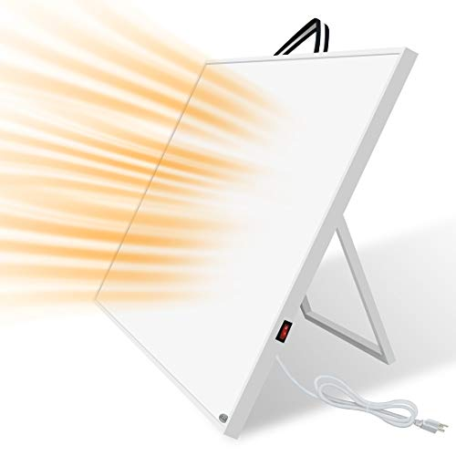 DUOLANG Wall Mount Electric Heater Panel- Carbon Crystal Infrared,120V400W Portable with Carry Handle&Back Stand,Overheat Protection&Odor-free,Effective for Up to 120Sq.Ft, 50% Heating Cost Saving