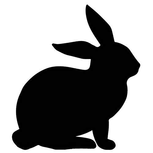 VCHSH Aufkleber Auto lustig Auto Aufkleber Niedlichen Kaninchen Muster Applique Dekoration Zubehör Auto Stempel Auto Aufkleber 16 cm * 14 cm Aufkleber für autoscheiben (Color : Black)