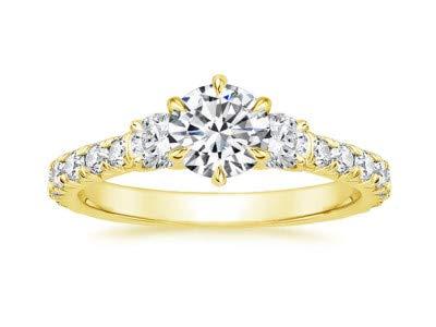 1,09 Carat Diamond Wedding Solitaire Anello donna gioielli veri 14K oro giallo gioielleria raffinata uk Vendita online