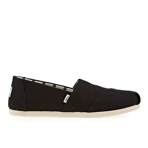 TOMS womens Alpargata Oxford, Black, 8.5 US