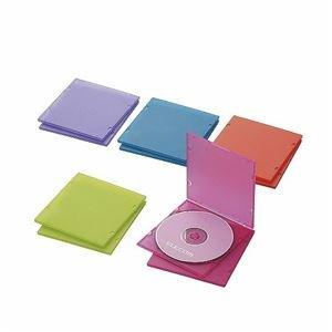 (まとめ)エレコム Blu-ray/DVD/CDケース(スリム/PP/1枚収納) CCD-JPCS10ASO【×5セット】