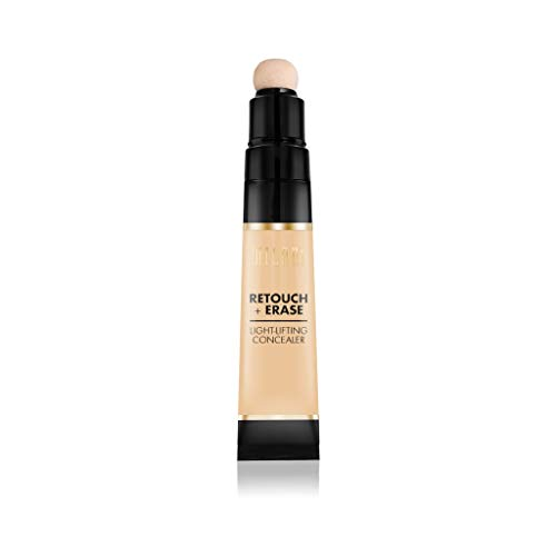 Milani Retouch + Erase Light-Lifting Concealer - Medium Light (0.24 Ounce) Cruelty-Free Liquid Concealer with Cushion Applicator Tip to Cover Dark Circles, Blemishes & Skin Imperfections