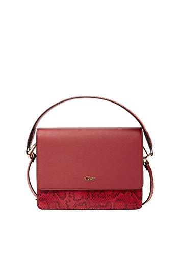 s.Oliver RED LABEL Damen City Bag mit Snake-Details red 1