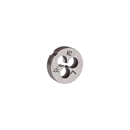 uxcell M2 X 0.4 Metric Round Die, Machine Thread Left Hand Threading Die, Alloy Steel