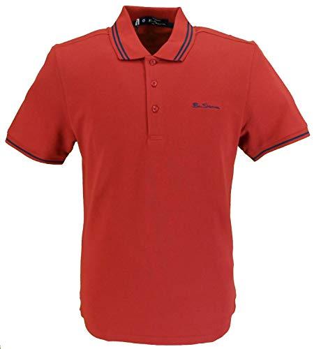 Ben Sherman Herren Poloshirt, Piqué Gr. XXL, rubinrot