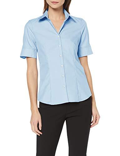 Seidensticker Damen Bluse , Blau (12), 48