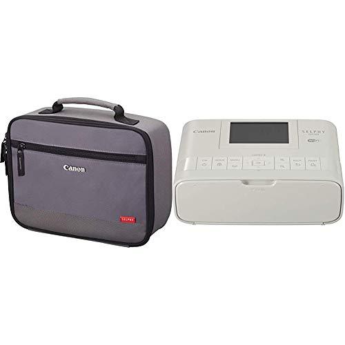 Canon Selphy CP1300 WLAN Foto-Drucker (Thermosublimationsdruck, 300 x 300 dpi) weiß & DCC-CP2 Tragetasche für SELPHY Drucker grau