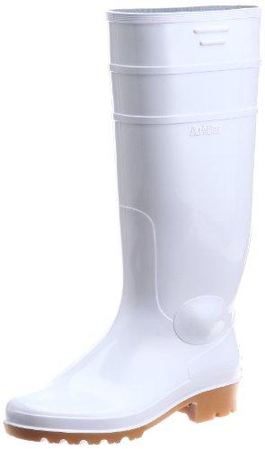 [アキレス] ブーツ 長靴 日本製 耐油 防臭 衛生加工 長さ調整可能 2E ユニセックス ワークマスター TSW 2100 ホワイト/クレープ 25.5 cm
