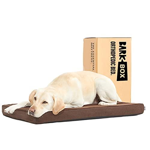 Barkbox Memory Foam Platform Dog Bed   Plush Mattress for Orthopedic Joint Relief (Large, Espresso)