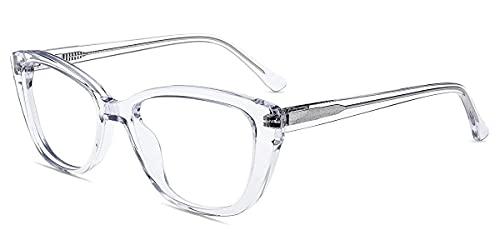Firmoo Lentes Luz Azul de Ojo de Gato para Computadora,Gafas de Filtro de Luz Anti Fatiga Ocular Antejos Antireflejantes para Mujer Hombre