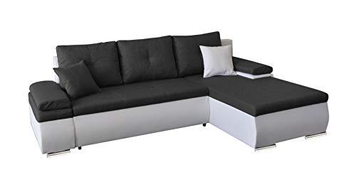 Primelife4You Polstergarnitur Carat Ecksofa mit Schlaffunktion und Bettkasten. EIN Premium-Multifunktionales Sofa und Moderne Schlafcouch/Bettsofa in (Anthrazit Weiss) 252 x 175 cm