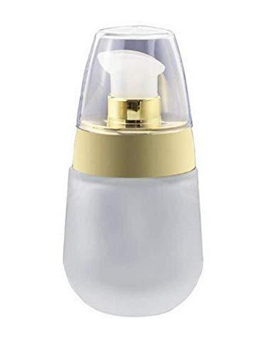 1 flacon de 30 ml vide portable en verre dépoli pour le visage, la crème de maquillage, la lotion de voyage, l'émulsion Pot Pot Pot