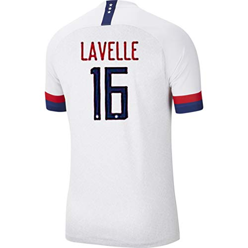 Why Choose LVA Yum Men's Lavelle Jersey #16 2019 Women's World Cup Home Soccer Jersey Colour White (...