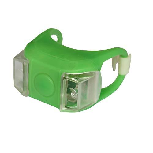FSHB 1pc Fahrrad Fahrradleuchte LED Rücklicht Wasserdichtes Rücklicht Sicherheitswarnung Fahrradleuchte USB Wiederaufladbar 4 Modi Lampe, Frosch 04