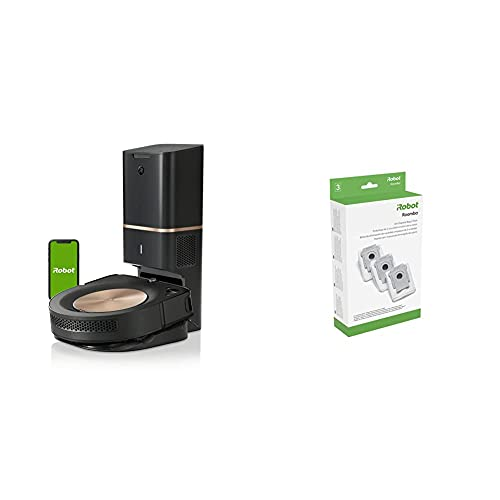iRobot Roomba s9+ (9550) Robot Vacuum with Clean Bas Automatic Dirt Disposal Bags, 3-Pack, Compatible with All Clean Base Models