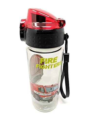 Auslaufsichere Kinder Wasserflasche Trinkflasche Flasche bruchsicher leicht aus Tritan Kohlensäure geeignetBPA-frei 500 ml für Schule Kindergarten Sport (Feuerwehr)