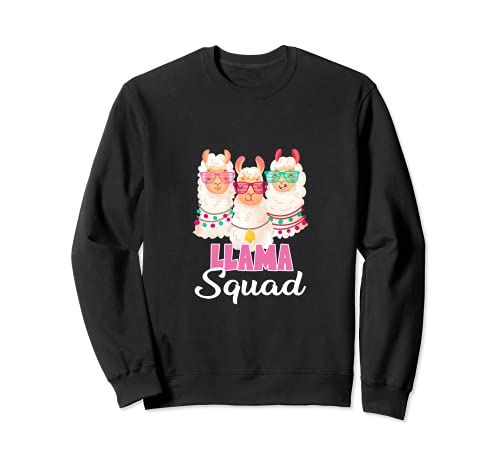 Retro cool Llama Squad Alpacas 80s Style Sudadera