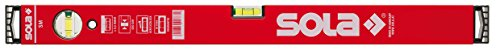 Sola SM RED Wasserwaage aus Aluminium, 40cm, mit 2 Luftblasen