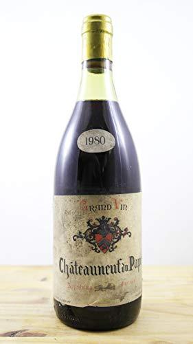 Wein Jahrgang 1980 Châteauneuf du Pape Dougnac ELA Flasche