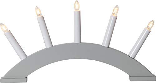 Star 5-flammig Material: Holz, Farbe: grau, ca. 39x21 cm