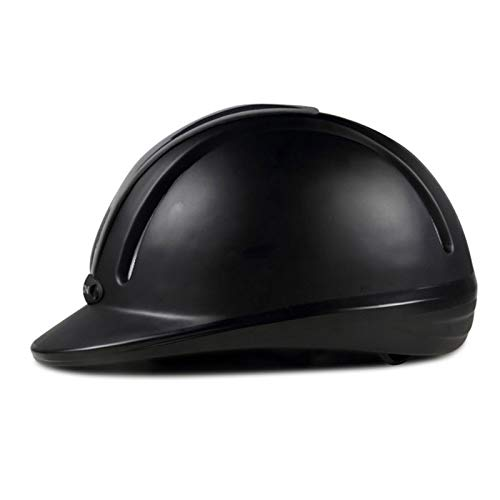 BoxJCNMU Casco para Montar a Caballo, nuevos Suministros para Montar a Caballo, Casco Profesional de Seguridad para Adultos, Casco Ecuestre Black 55-58cm
