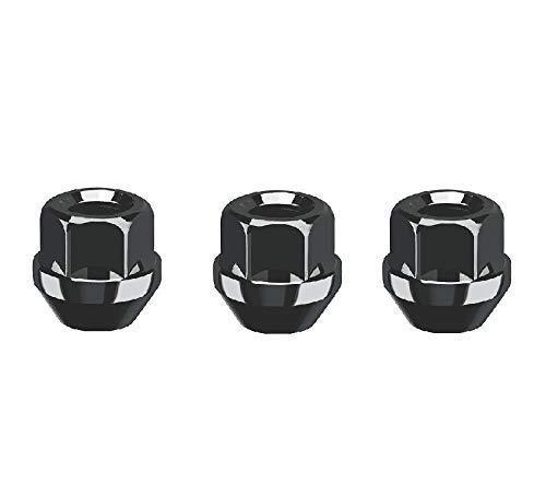 20 x tuercas de rueda negras I tuercas para llantas de acero I collar cónico abierto I M12x1,5 SW19 I para modelos FO