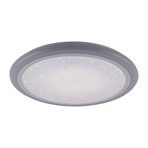 LED Deckenlampe in Sternenhimmel-Optik, rund 60cm Ø | dimmbare Deckenleuchte mit Farbtemperatursteuerung, warmweiß – kaltweiß | Sternenlicht-Deckenbeleuchtung mit RGB-Farbsteuerung