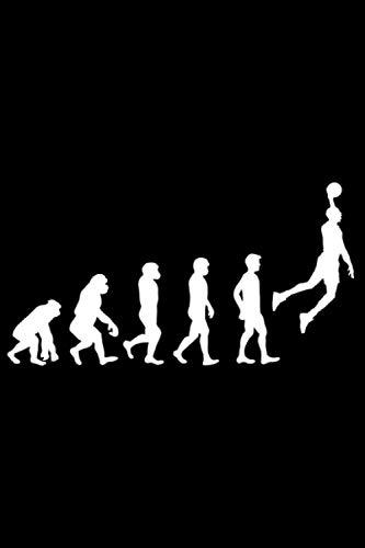 Evolution Basketball: DIN A5 Kariert 120 Seiten / 60 Blätter Notizbuch Notizheft Notiz-Block Motive für Basketballspieler Basketballer Sport