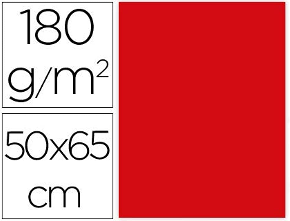 Liderpapel CX68 – Pack of 25 Cardstock, 50 x 65 cm, Red Christmas