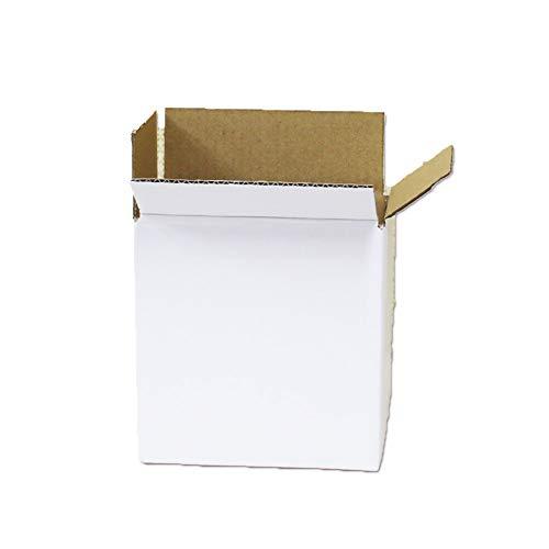 白 ダンボール 43サイズ(60サイズ以内) (15.8×10.8×16.1cm)段ボール箱 ホワイト日本製 宅配便 小さいサイズ H6 【20枚セット】