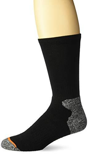 Weatherproof Men's 3 Pack Crew Socks, black, 10-13