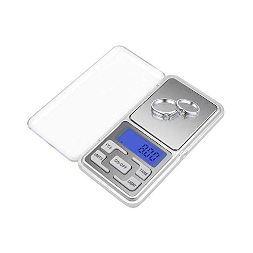La última escala de grasa corporal electrónica inteligente 100 g / 200 g / 300g / 500g x 0.01g /0.1g Básculas de bolsillo de joyería de joyería de alta precisión Joyas de diamante de diamante Balanza