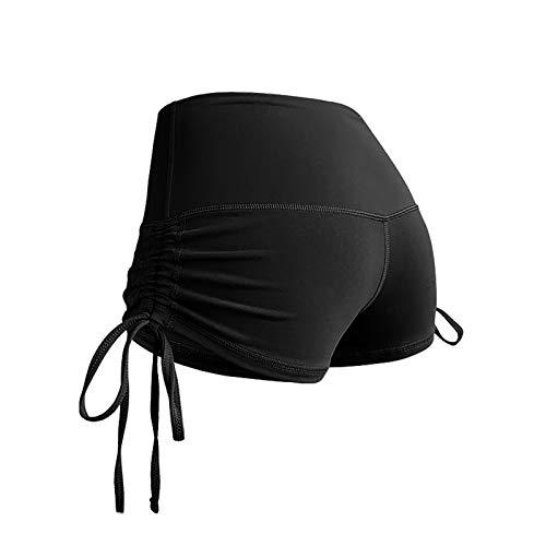 Pantalón corto deportivo para gimnasio, correr, entrenamiento, yoga, disfraz Negro L