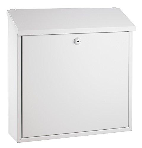 Alco 8604 Briefkasten, weiß lackiert, ca. 36 x 36 x 10 cm