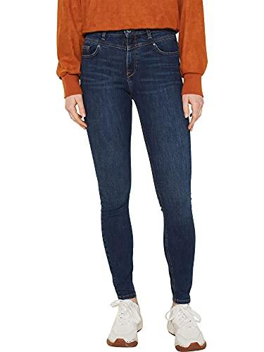 ESPRIT Damen Shape Jeans, Blue Dark Wash