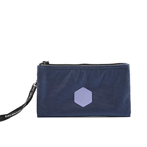 Voyage Petits débris Zipper Portable Wash Petit Sac de Rangement Sac à cosmétiques Sac de Grande capacité Portable FANJIANI (Color : Blue)
