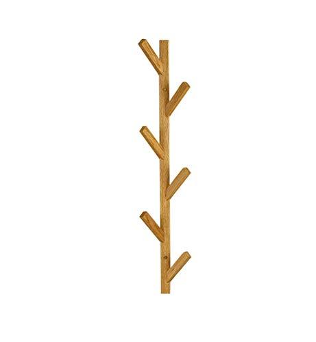 ZWH-Perchero de pie, soporte de perchero para pasillo industrial, madera de nogal negro, para dormitorio/oficina/entrada (color: A)