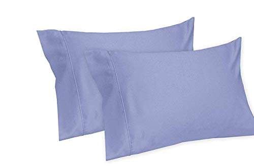 Royal Tradition Solid 550-Thread-Count, 100-Percent Cotton Set of 2 King Pillow Cases, Periwinkle