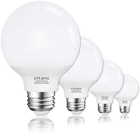 Vanity Light Bulb 5000K Daylight G25 LED Globe Light Bulbs for Bathroom Vanity Mirror Cotanic product image