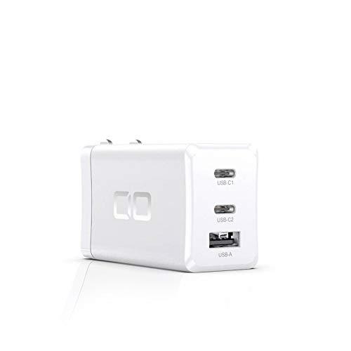 CIO LilNob 窒化ガリウム 充電器 65W GaN 3ポート USB PD3.0 ACアダプター 世界最小 USB-C 急速充電器 軽量 タイプC PPS iPhone Android Macbook Pro iPad Pro ホワイト
