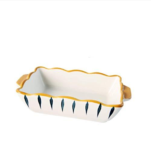 GYHJG Vaisselle Domestique Assiette en Céramique Assiette Rectangulaire Cuisson Fromage Cuit Au Four Bol De Riz Four À Micro-Ondes Vaisselle Spéciale